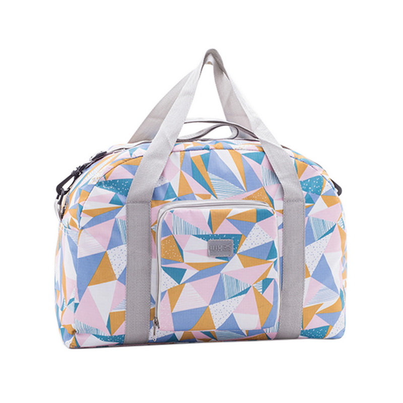 NIBESSER Waterproof Travel Bag Geometric Printing Luggage Travel Handbags Portable Travel Bag Tote Shopper Bags for Women 2018
