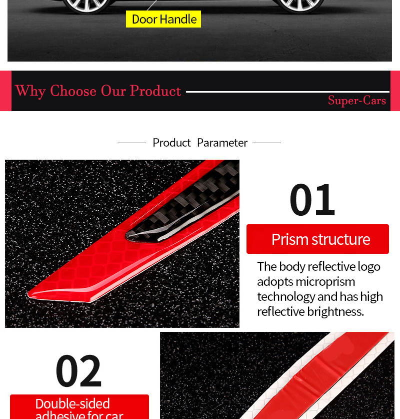 5-Car-Reflective-Strip-Door-Warning-Reflector-Carbon-Fiber-Universal-Luminous-Stickers-and-Decals-Night-Protector-Auto-Accessories