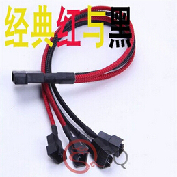 ATX 4Pin 4P IDE Molex to 4 * 12V 4Pin Socket Cooling Fan Splitter Connector Jack Power Supply Cable Cord 22AWG Wire 30cm delta 12038 12v cooling fan afb1212ehe afb1212he afb1212hhe afb1212le afb1212she afb1212vhe afb1212me