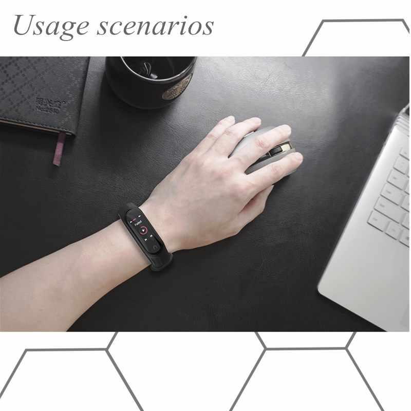 Mi Band 4 3 סיליקון רצועת אורורה צמיד להקת יד עבור xiaomi mi Mi band 4 3 חכם שעון טהור צבע ספורט mi band 4 3 רצועה