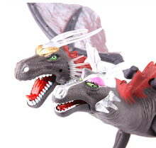 The new electric light emitting a two-headed dragon baby toys Sound simulation model dinosaur toy dinosaur free shipping