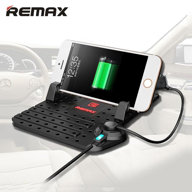00f1218b52c Remax soporte de coche para teléfono móvil con cargador magnético Cable USB  para iPhone 5 5S