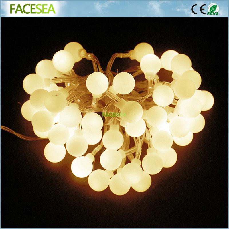 10M 220V vanjski višebojni LED žarulje svjetla božićne lopte - Rasvjeta za odmor - Foto 1