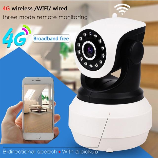 3G 4G Sim Card IP Camera 1080P HD PTZ Pan Tilt Video Camera GSM P2P Network Wireless Wifi Home Security Motion Detection Alarm