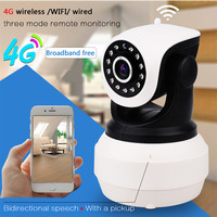 3G 4G Sim Card IP Camera 1080P HD PTZ Pan Tilt Video Camera GSM P2P Network Wireless Wifi Home Security Motion Detection Alarm