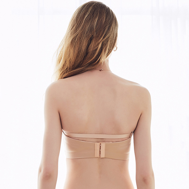 Non-slip strapless invisible bra on the lower thin rimless wedding underwear female tube top free shipping