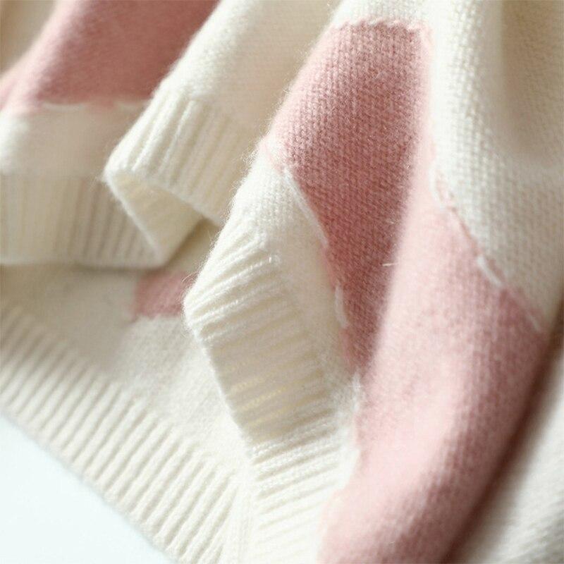 Frau Floral schwarzgraupink Pullover Kaschmirpullover 2018 plus Herbst Pullover gedruckt lose Oansatz 100gestrickter Winter Gre XNk0wO8PnZ