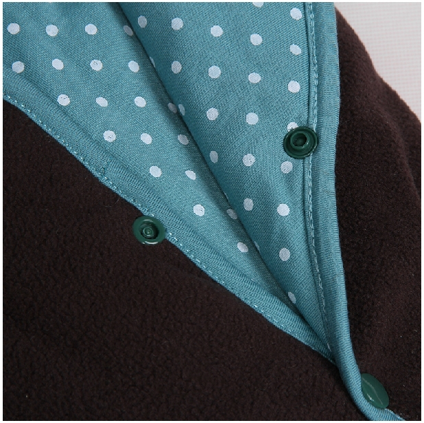 Baby Cloak Cute Polka Dots Lining Mantle Babe Boys Girls Spring Autumn Cape Toddlers Fleece Hoodies Coat Jacket Outwear Clothing