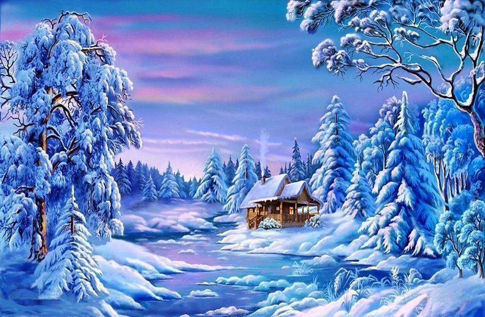 Зимний пейзаж открытки картинки, рожден советском союзе