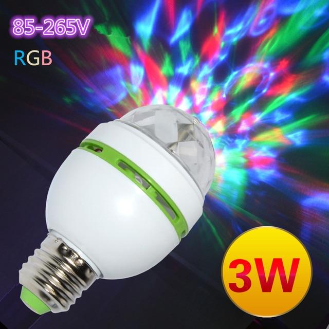 E27 Ac 120v 220v Led Stage Lighting Lamp Rgb Party Lights 3w Colorful Bulbs Dj Light Show Auta Rotating Lamps