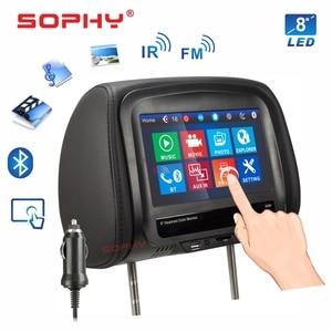 Image 2 - Новинка! Автомобильный монитор на подголовник 7 или 8 дюймов, MP5 видеоплеер с ИК FM сенсорным экраном для зарядки телефона 7068 или 8068