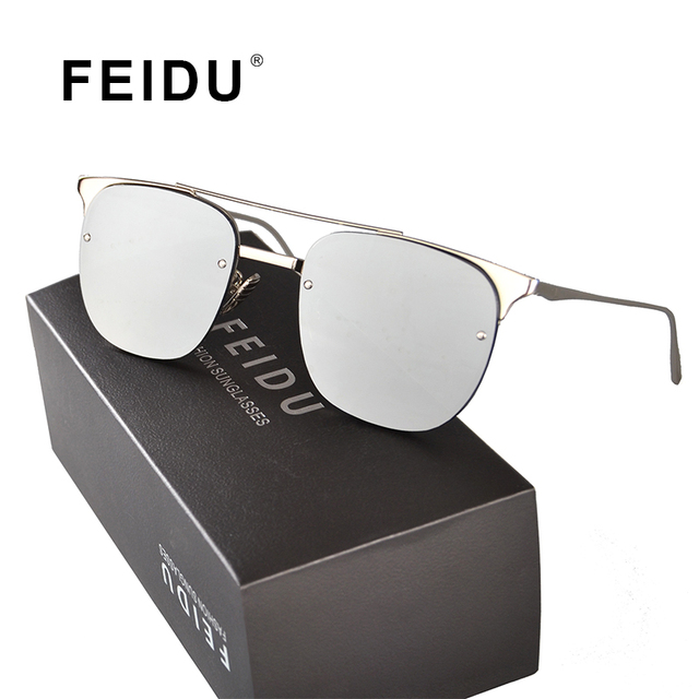 8c017fe03f6 FEIDU 2016 New High Quality Sunglasses Men Vintage Brand Metal Frame Sun  glasses Driving Oculos De