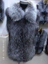 New 2014 winter fox skin punch fur vest