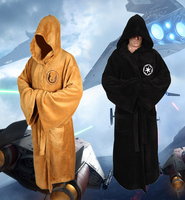 Star Wars Darth Vader Coral Fleece Terry Jedi Adult Bath Robe Sleepwear Black and Brown