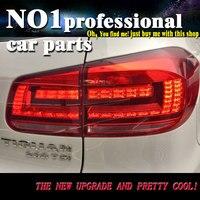 Car Styling for VW Tiguan Tail Lights 2013 2015 Volks Wagen New Tiguan LED Tail Light Rear Lamp DRL+Brake+Park+Signal