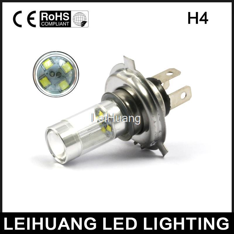H4 9003 HB2 High Low Beam LED Fog Light Headlight Lamp White    XBD chip High Power 6th 80w led headlight conversion kit h4 9003 hb2 led bulbs high low beam super bright lamp