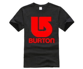 Burton Snowboards - Custom T-shirt Tee Hipster Tees Summer Mens T Shirt New Short Sleeve Round Collar White Style
