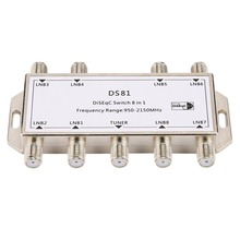 DS81 8 In 1 Satellite Signal DiSEqC Switch LNB Receiver Multiswitch Heavy Duty Zinc Die
