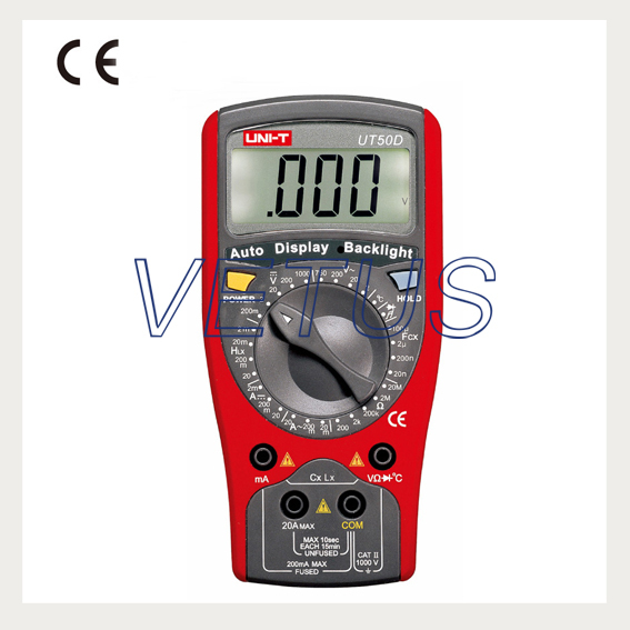 UNI-T UT50D digital multimeter price with AC DC Volt Amp Ohm Temp Inductance Capacitance Tester uni t ut90c ut 90c low price best multimeter digital with lcd display
