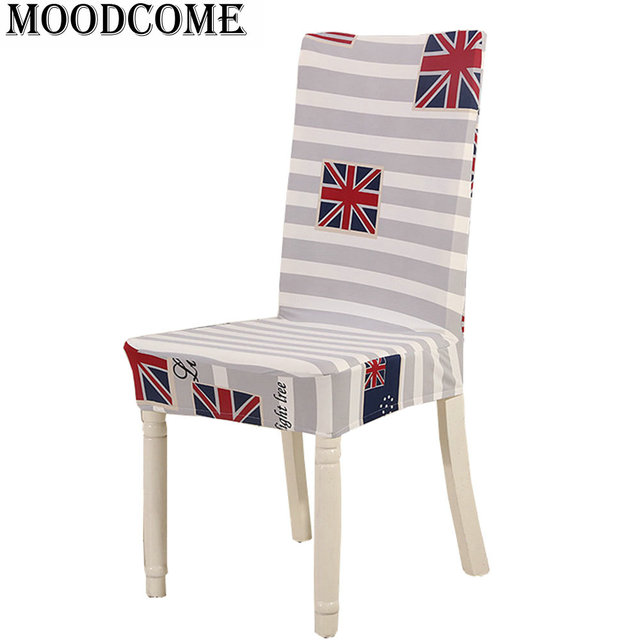 United Kingdom Flag Chair Cover Spandex Polyester Dining Room Chairs Covers Elastic Stretch Stripe