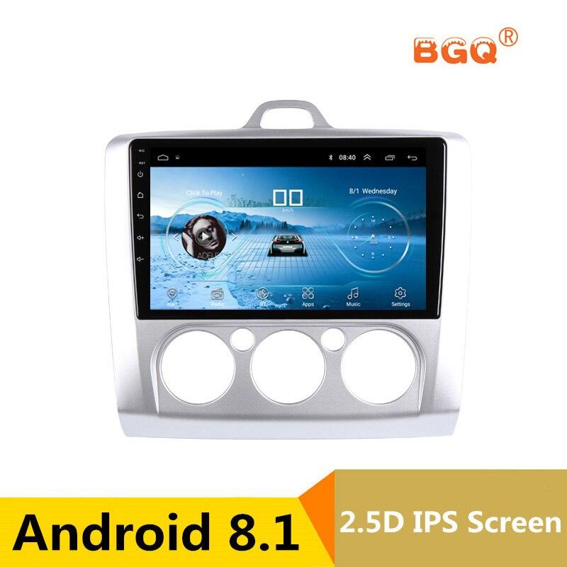 9 Android 8.1 dvd de voiture lecteur multimédia GPS Pour ford focus 2 3 2006 2007 2008 2009 2010 2011 audio autoradio stéréo navigateur