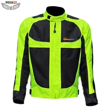 Motorcycles Jacket Racing Riding men Reflective Safety Jacket thermal Coat 5 Protector Pads Motocross MOTO Protection Gear цена и фото