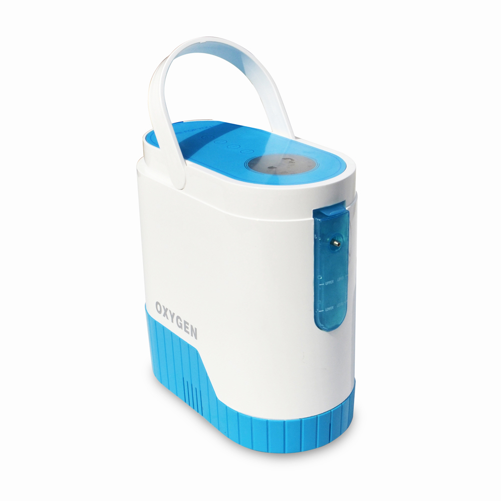 COXTOD Portable Battery use 90% purity oxygen machine Oxygen Concentrator Generator 5L flow HOME/TRAVEL/BATTERY WITH CAR CHARGER