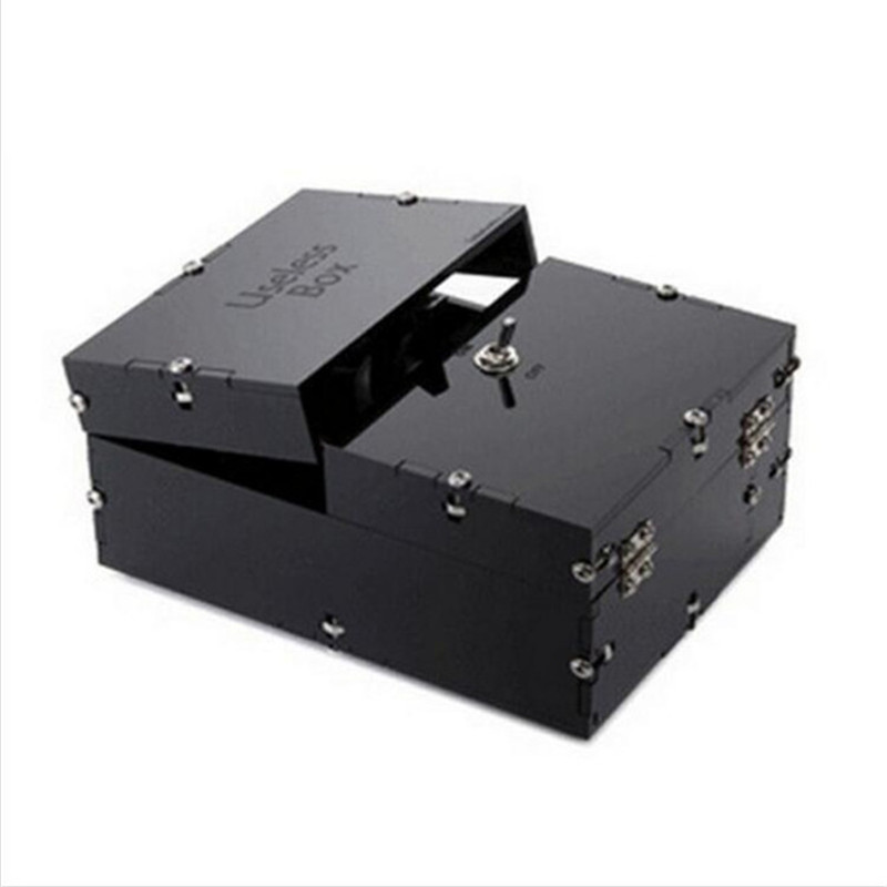 New Creative Black Useless Box Gags amp Practical Jokes Funny Toys Leave Me Alone Box for