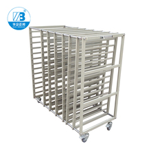 ESD Stainless Steel Trolley / ESD Turnover Cart / Antistatic PCB Plates Storage Trolley ZB-1000J sobuy fkw22 sch kitchen cabinet kitchen storage trolley serving trolley with stainless steel top