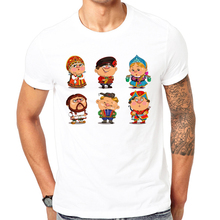 2017 Latest print t shirt Russian ethnic clothing Summer T shirt Cool men summer shirt fashion