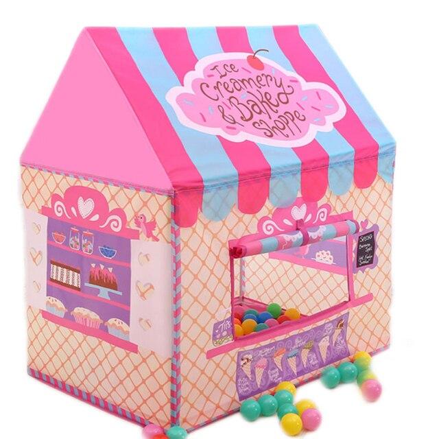 Juegos Plegable Aire Juguete Tipi Tienda Libre Al Casa Portátil Juego Regalos Juguetes Interior De Colorido Rosa Campaña nwNOvm8y0