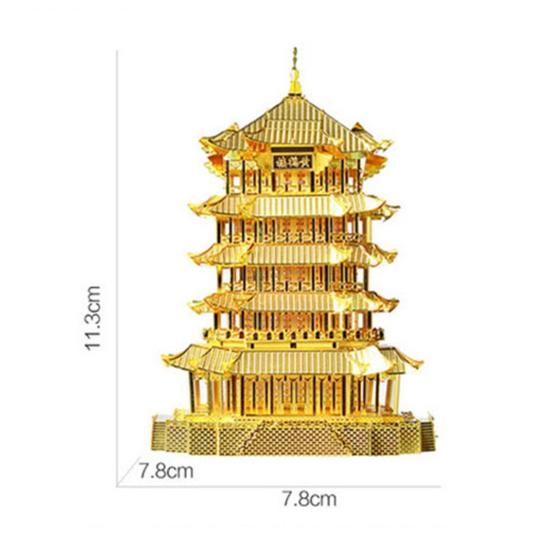 3D-Yellow-Crane-Tower-Metal-Puzzle-Famous-Ancient-Buildings-Kid-DIY-Interesting-Toys-Adults-Manual-Gift-TK0093 (6)