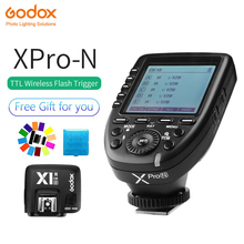 Godox Xpro-N i-TTL II 2.4G X System Wireless Control Remote Trigger with X1R-N Controller Receiver Compatble for Nikon Flash