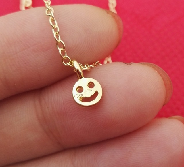 Give me your smile dainty women smiley face necklace necklace give me your smile dainty women smiley face necklace necklace pendants woman necklace best friend aloadofball