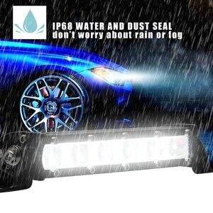 Image 2 - Lampade A LED Per Auto 8 Pollici 60W Luce del Lavoro del LED Bar Impermeabile Off Road Spotlight Proiettore Lampada Della Nebbia Luces led Para Auto