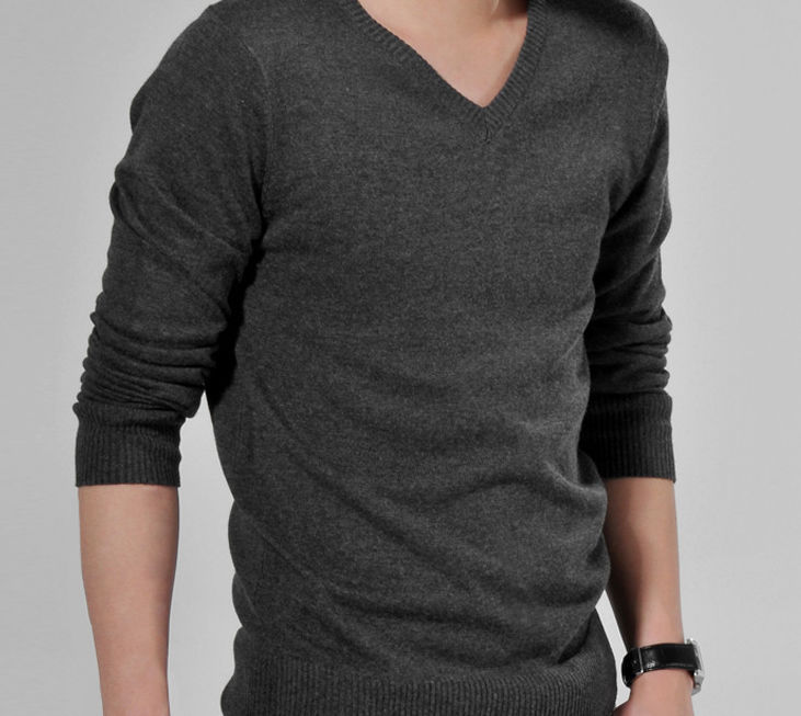2016 brand Sale Regular Cotton Men Sweater V neck Pullover Men ...