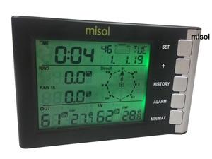 Misol/Профессиональная метеостанция, скорость ветра, направления ветра, температуры, влажности, дождя 433 МГц