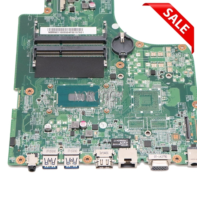 NOKOTION DA0ZYWMB6E0 NBMNX11005 NB.MNX11.005 Acer aspire E5-771G E5-771 노트북 마더 보드 SR244 I3-5005U CPU 용