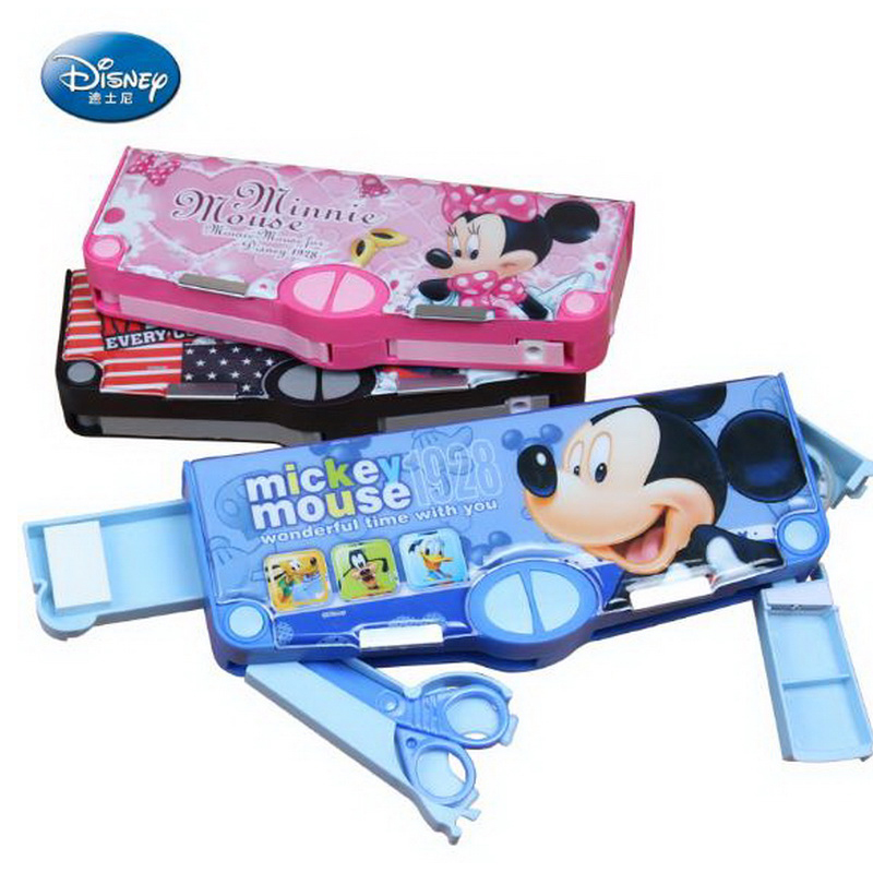 220909/School Gifts Boxes Pupil Men Multifunctional Creative Disney Child Pencil Box Primary School Student