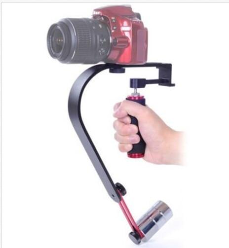 Professional Video Steadicam Hand-held Video Stabilizer+ phone holder clip for iphone DSLR Camera Camcorders DV Gopro hero3 4 u shape handheld dv dslr camcorders speedlite holder bracket black