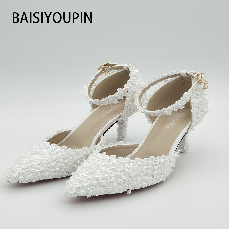 Us 3999 2017 Diamond Wedding Dress Shoe High Heels Womens Shoes Pointed Bridal Shoes Elegant Marriage Stage Sandals Big Size 33 41 42 In Womens