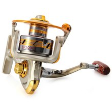 Europe Hot-selling EF1k -7k Metal Spool Spinning Fishing Reel Carretilha Pesca Wheel 10-Ball Bearing 5.5 :1 Fishing Reel Bait