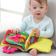Multiple Cartoon Baby Cloth Book 0-3 Y Early Learning Educational Toys Soft Cloth Development Baby Books Baby & Toddler Toys 1pc baby educational learning toys infant cloth book cartoon animal pattern baby soft activity crinkle cloth books 1