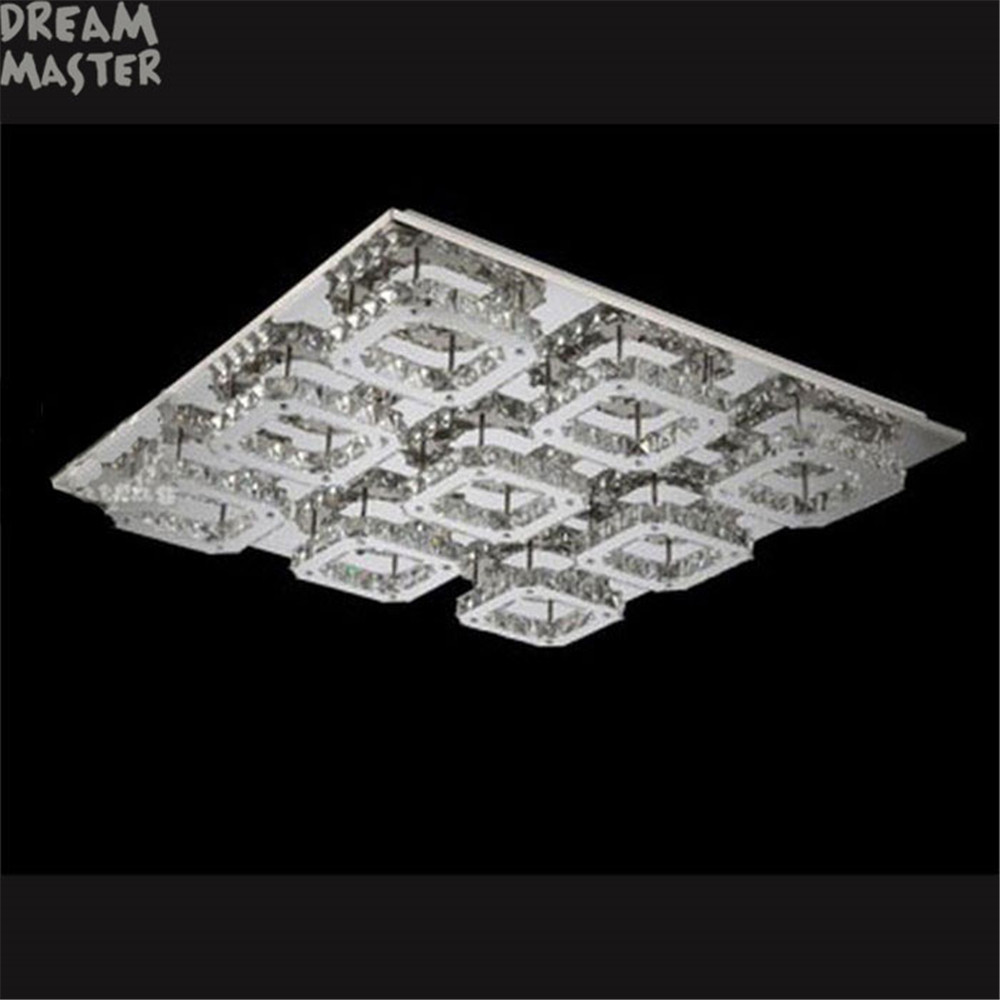 Image 3 - Luxury Large Modern LED Ceiling chandelier Light K9 Crystal square leds chandeliers Art Luminaire Luster living room lighting-in Chandeliers from Lights & Lighting