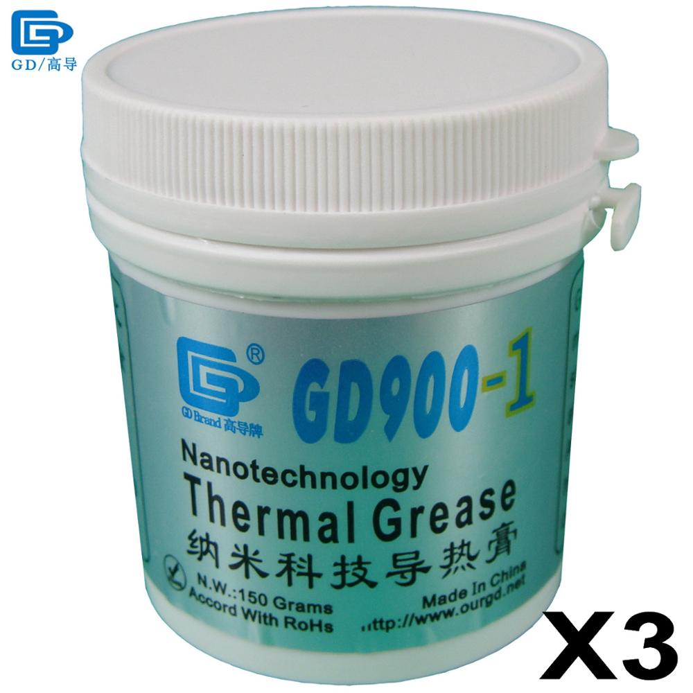 GD Brand Thermal Grease Paste Silicone GD900-1 CPU Heat Sink Compound 3 Pieces Gray Containing Silver Net Weight 150 Grams CN150 все цены
