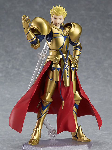 "Fate/stay Night figma 300# Fate Gilgamesh PVC Action Figure Collectible Model Christmas Gift Toy 5.5""15cm 1"