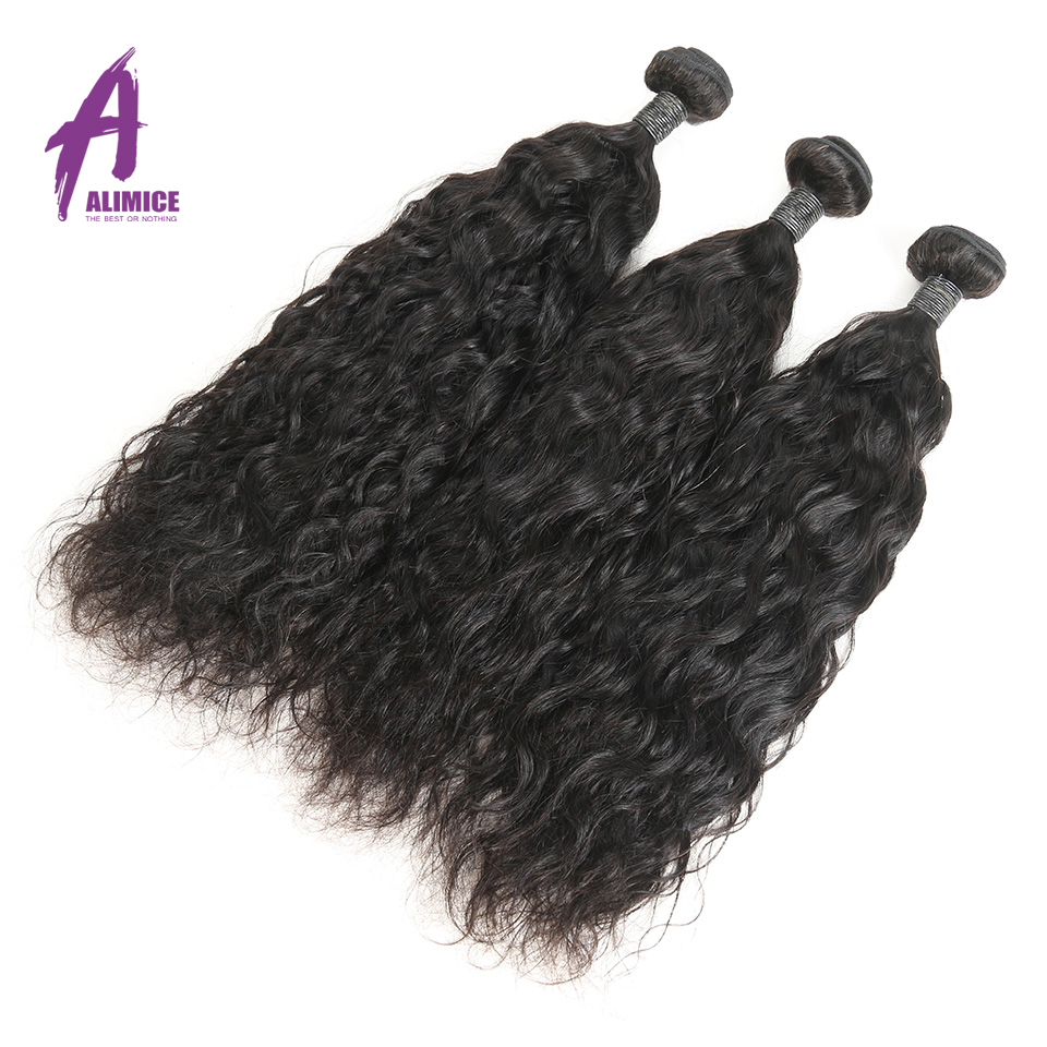 Alimice Brazilian Wavy Bundles 3 piece lot Brazilian Hair Weave Bundles 8 30inch Remy Hair Natural