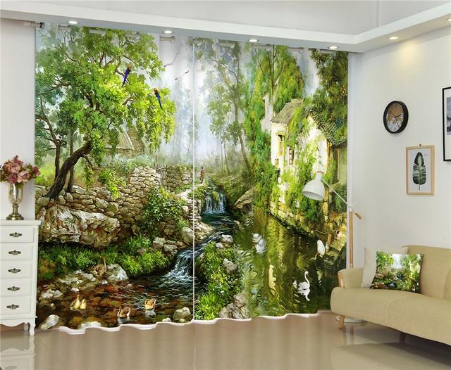peinture  u00e0 l u0026 39 huile de luxe 3d rideaux rideaux pour salon chambre chambre bureau h u00f4tel accueil