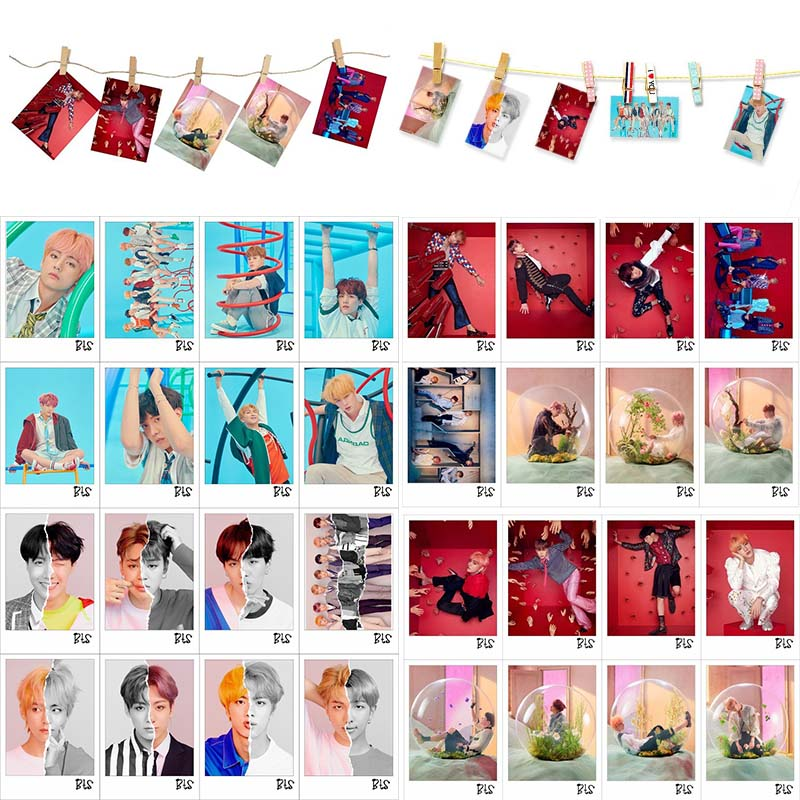 Kpop Bts Bangtan Boys Love Yourself Tear Answer Portray Photo Cards Lomo 16pcs Small Cards With Clips And Rope To Be Renowned Both At Home And Abroad For Exquisite Workmanship Jewelry & Accessories Skillful Knitting And Elegant Design