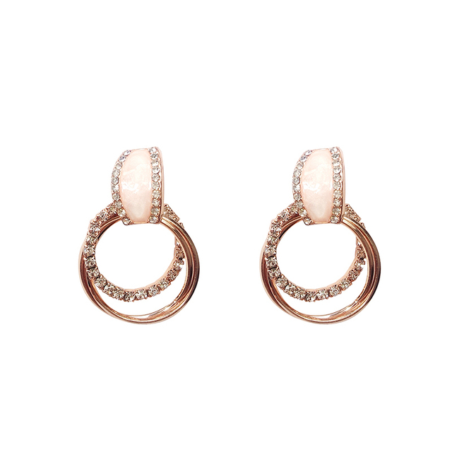 Classic Acrylic Women Stud Earrings Circle Earrings Fashion Jewelry Womens Accessories 6